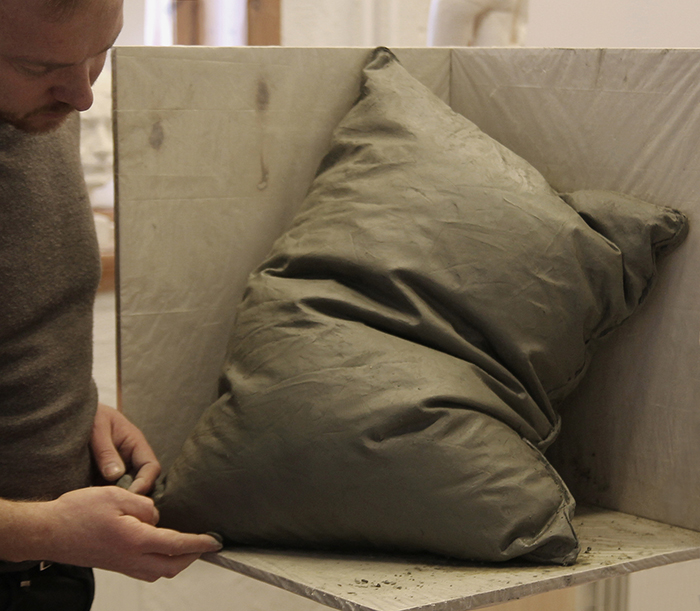 Marble Pillow Sculpture by Hakon Anton Fageras