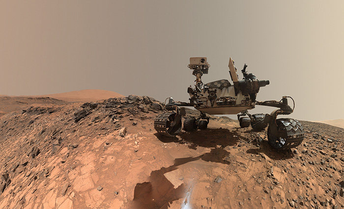 Mars Rover Curiosity in Buckskin Selfie