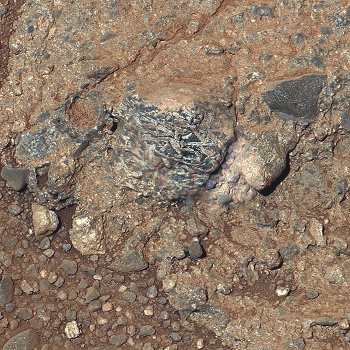 Martian Rock Harrison in Color, Showing Crystals
