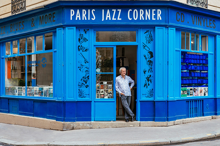 Maxime Hubert In Front of Paris Jazz Corner