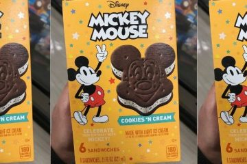 Mickey Mouse Cookies 'N Cream Ice Cream Sandwiches