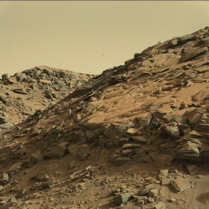 Mudstone Rock Outcrop at the Base of Mount Sharp
