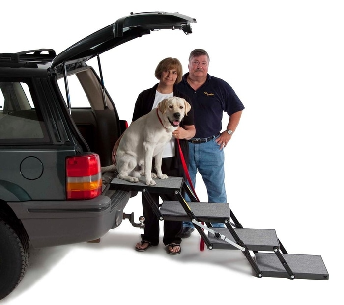 Pet Loader Founders Bob and Evon Whalen and Their Dog