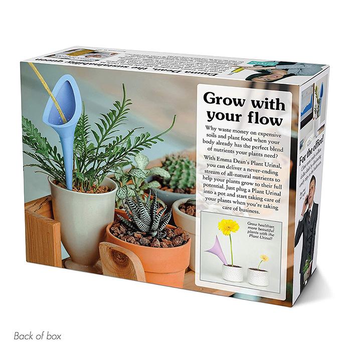 Plant Urinal Prank Gift Box Back