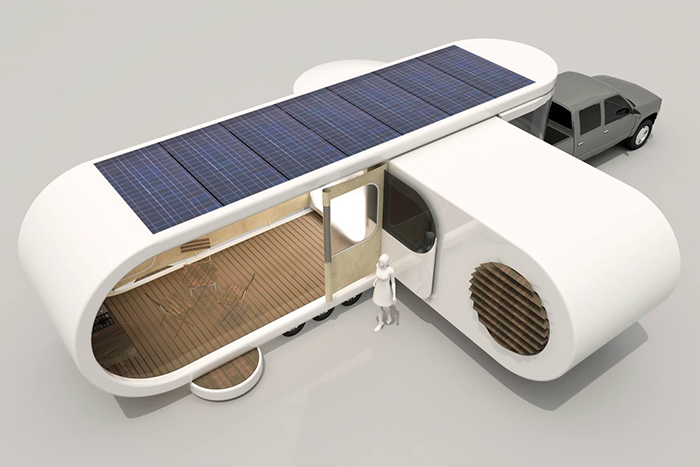 Romotow Solar Panel Roof Concept Photo
