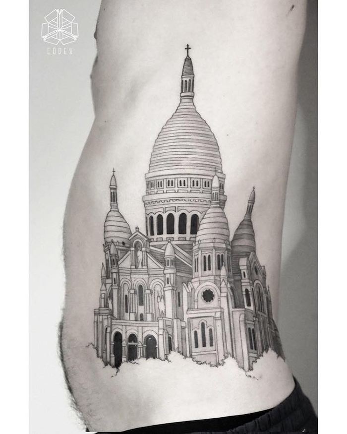 Side Body Cathedral Tattoo