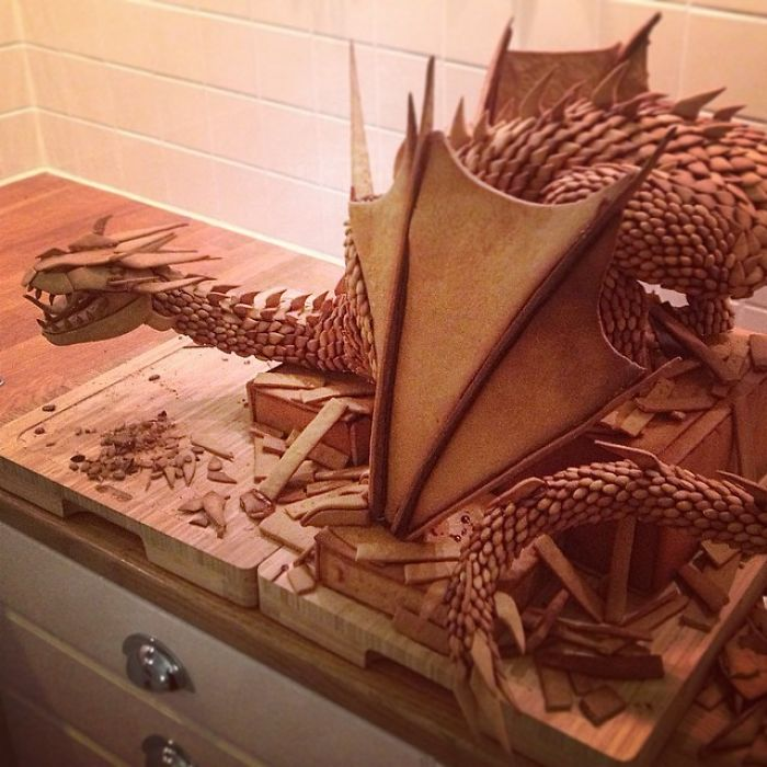 Smaug the Dragon Gingerbread Sculpture by Caroline Eriksson