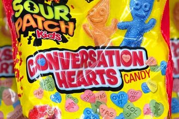 Sour Patch Kids Conversation Hearts