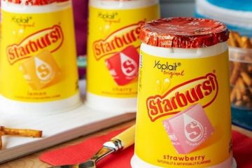 Starburst-flavored yogurt