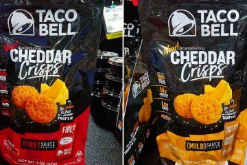 Taco Bell Cheddar crisps