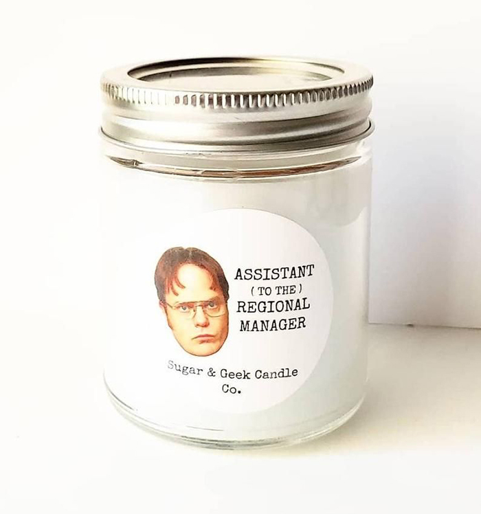 The Office Dwight Schrute Assistant to the Regional Manager Candle