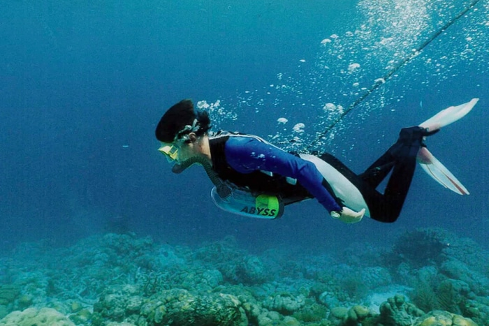 Underwater Test for Unique Foot-powered Scuba Diving Gear