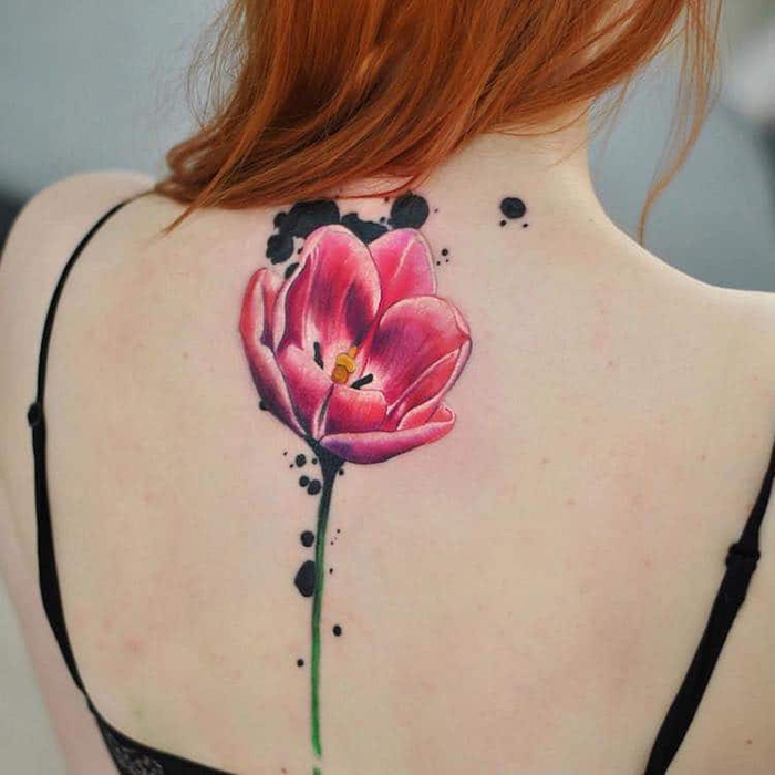 aleksandra katsan floral tattoos
