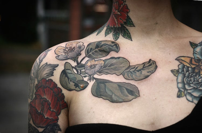 alice carrier botanical illustrations floral tattoos