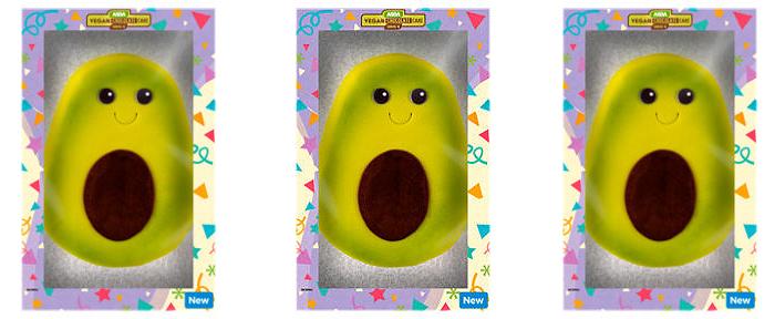 avocado-shaped chocolate cake