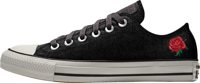 black chuck taylor all-star floral graphic