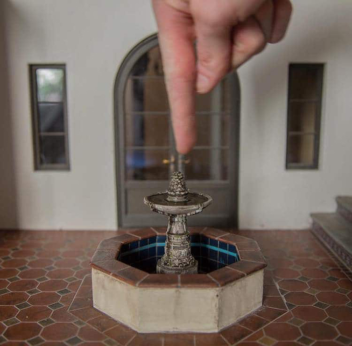 chris toledo miniature fountain
