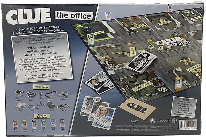 classic mystery board game based on comedy sitcom