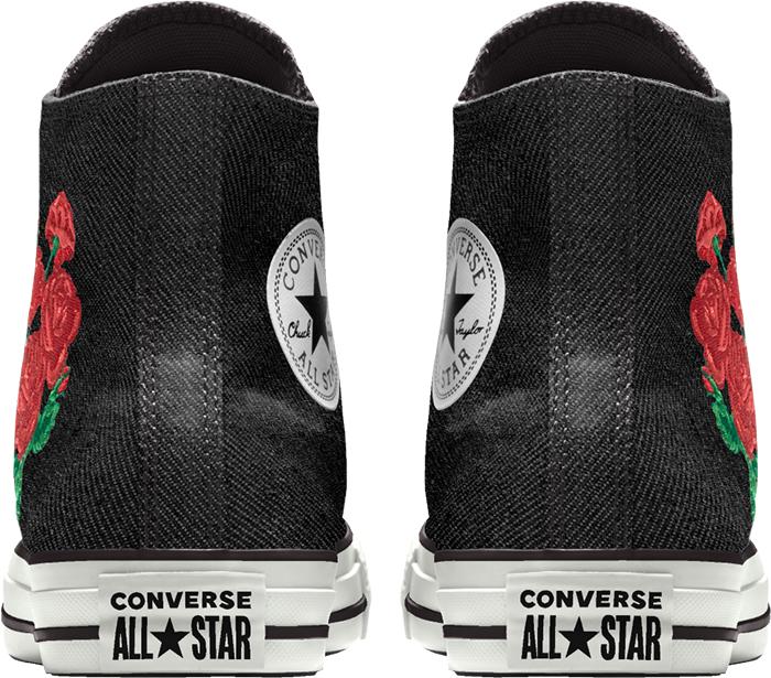 converse wedding collection black high top sneaker back