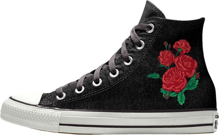 converse wedding collection black high top sneaker