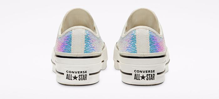 converse wedding collection mini-sequin chuck taylor all-star back