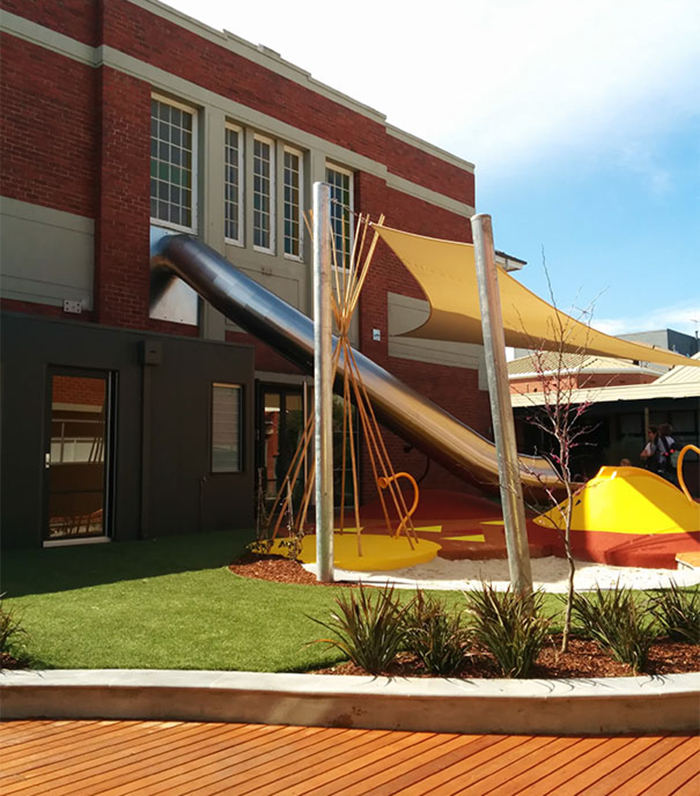 cool classroom designs slide to playground