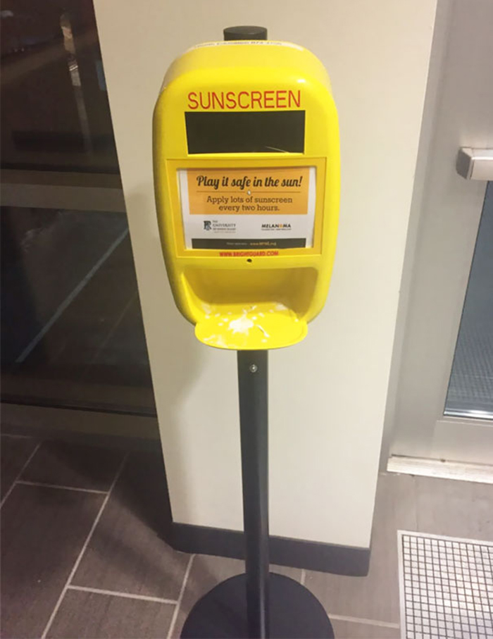 cool classroom designs sunscreen dispenser