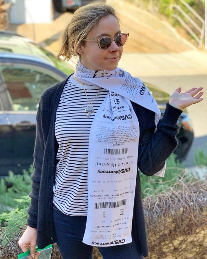 cvs receipt scarf funny