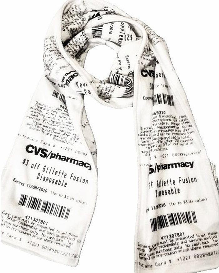 cvs receipt scarf