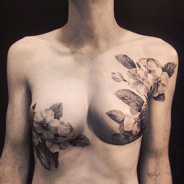 david allen floral tattoos