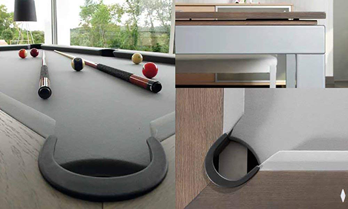 dining table and billiard table in one