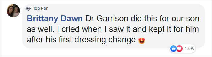 dr garrison did this for our son too