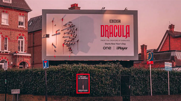 dracula shadow billboard afternoon