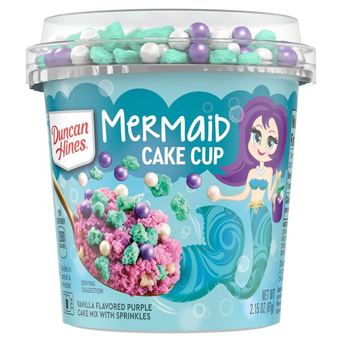duncan hines mermaid cake cup