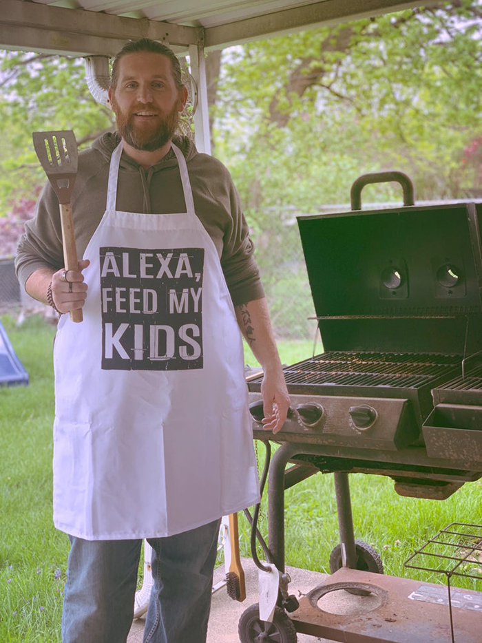 funny cooking aprons alexa feed my kids