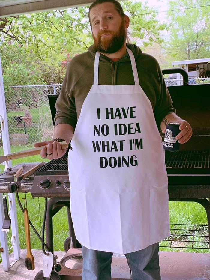 funny cooking aprons i have no idea