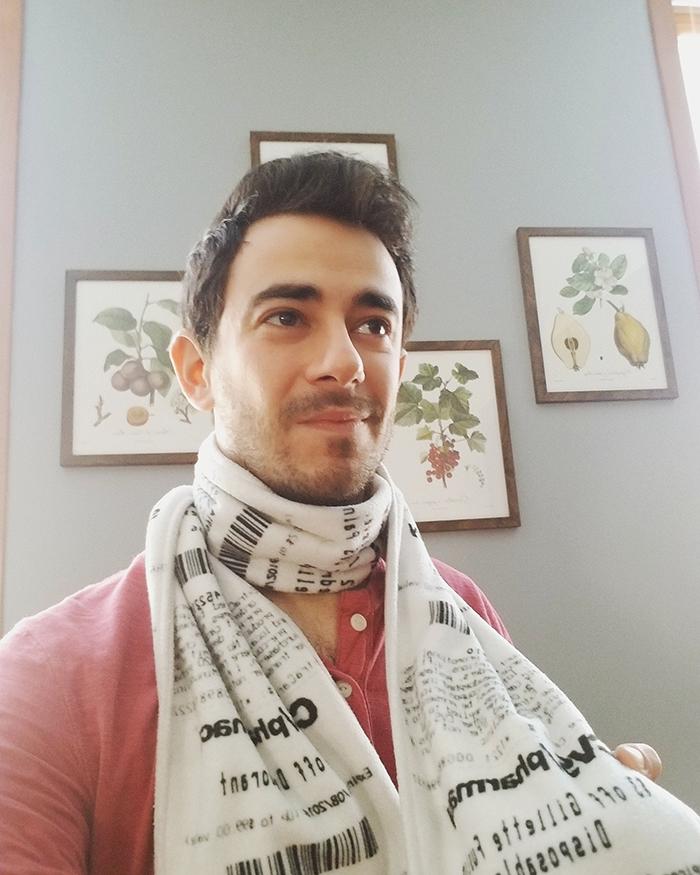 funny unisex scarves design