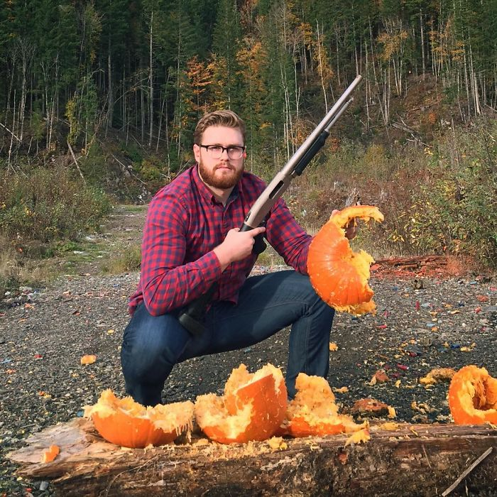 funny vegan hunters pumpkin shooter