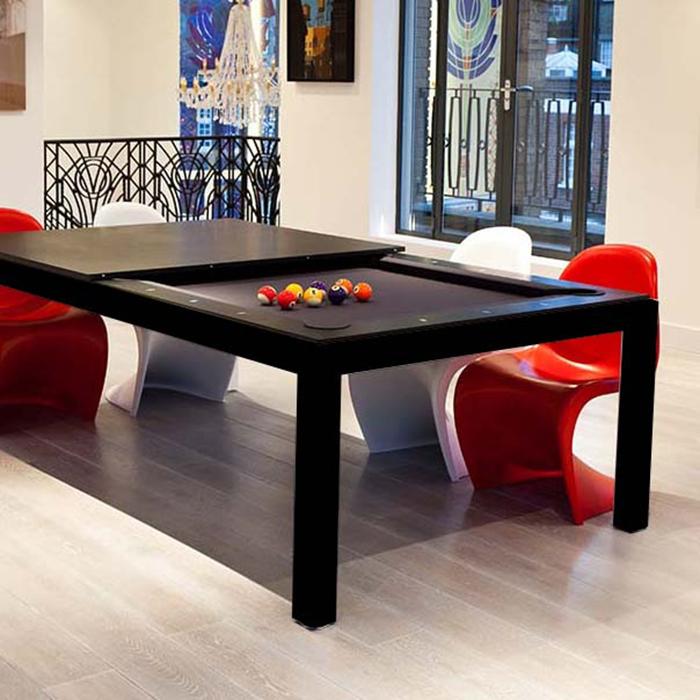 fusion pool tables black frame