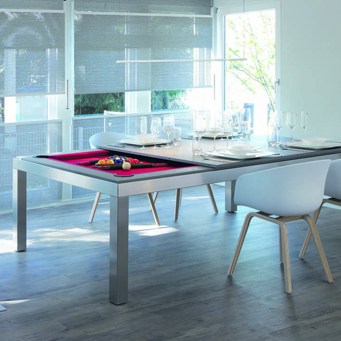 fusion pool tables stainless steel