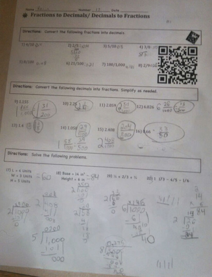 genius school ideas barcode homework