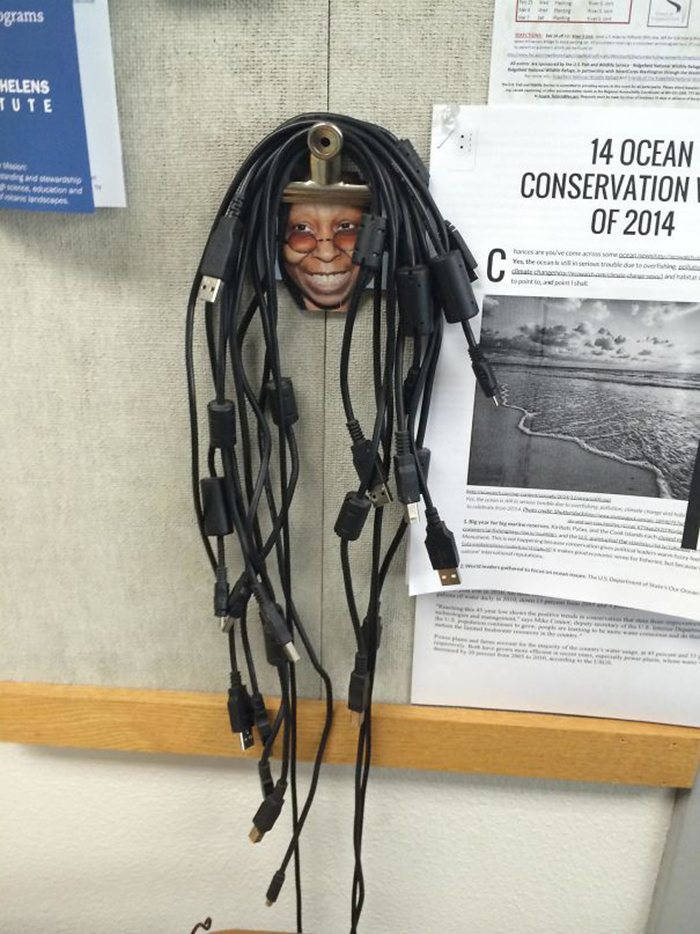 genius school ideas whoopi cord hanger