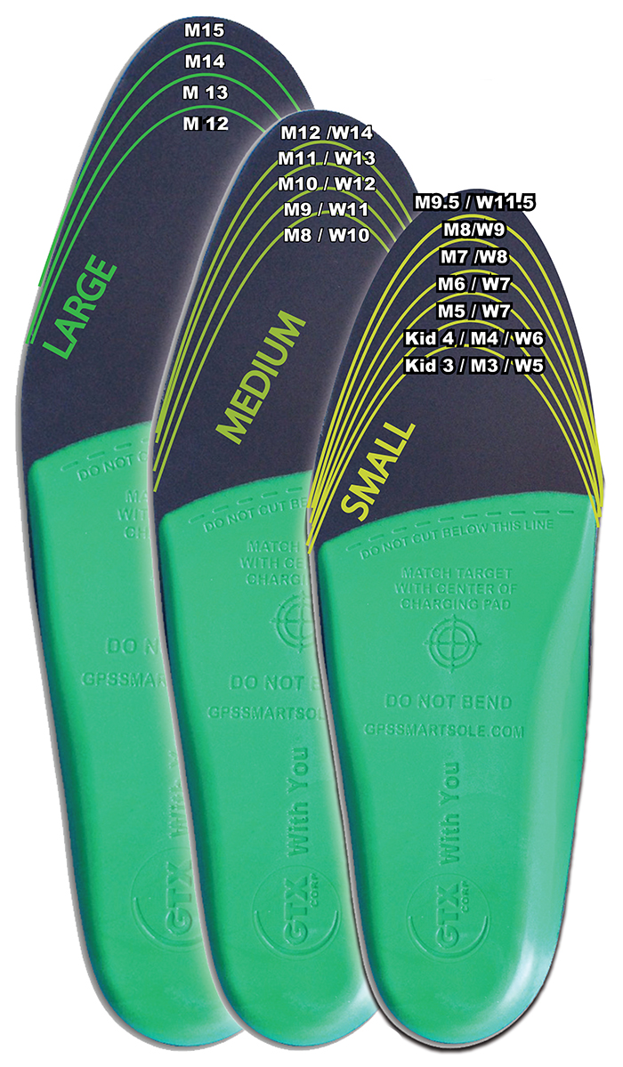 gps tracking shoe insoles