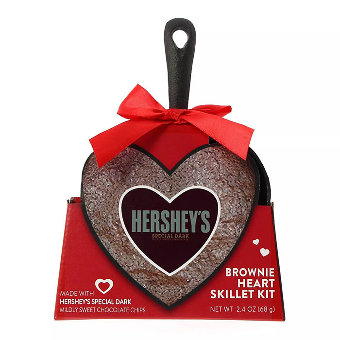 hershey's brownie heart skillet kit