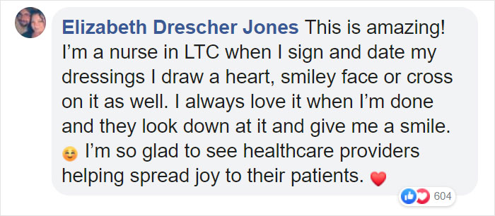 i also draw smiley faces and hearts on patients