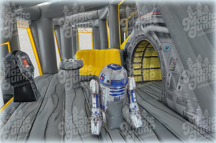 inflatable r2-d2 inside spaceship