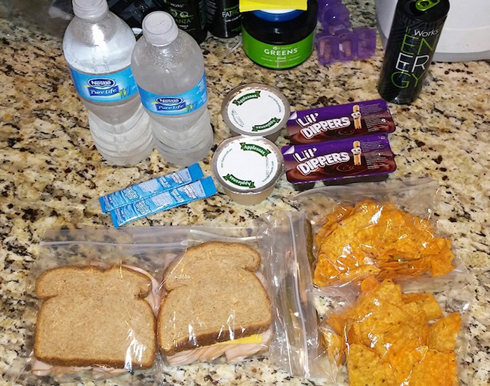 josette duran packs two lunches for son