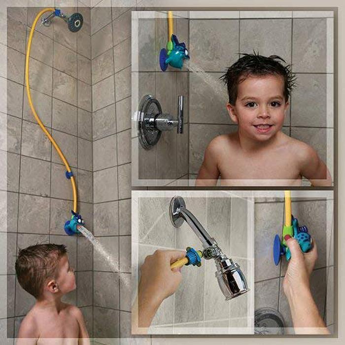 kids shower head softer spray