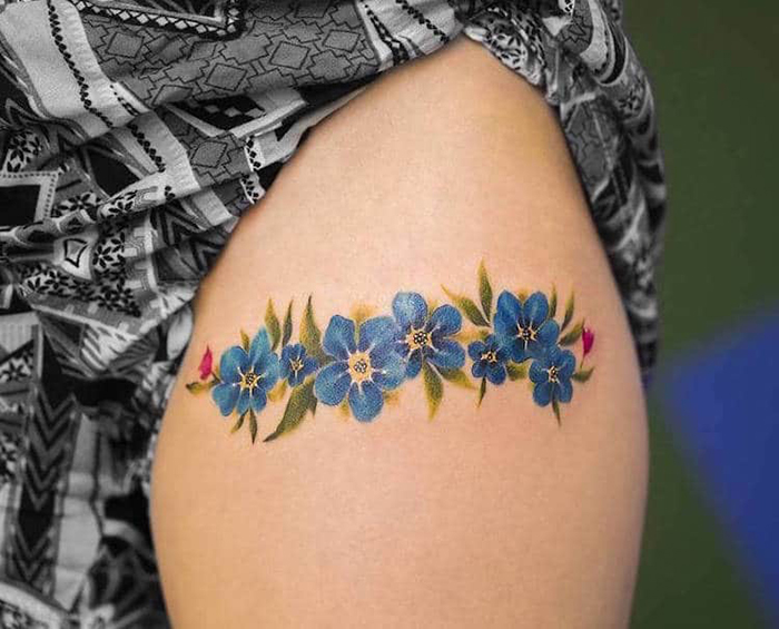 luqui watercolor floral tattoos