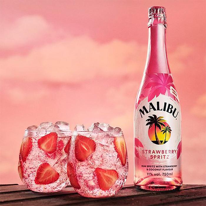 malibu strawberry spritz ready to drink